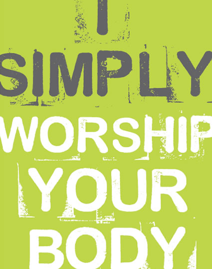 I worship your body card card from funky presents