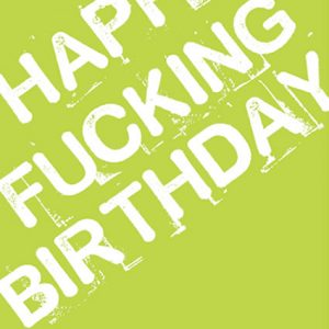rude birthday card green for sale funky presents.com