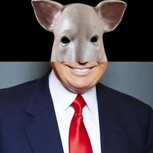 Funky Presents Pig Mask Donald Trump Haloween ecard