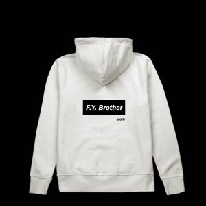 Fuck You brother Hoodie small block base back