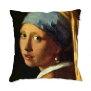 Funky Presents Luxury Designer Cushion Pixelated Vermeer